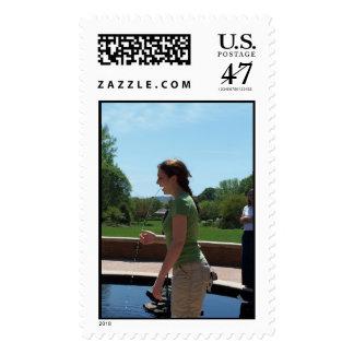 human fountain stamp
