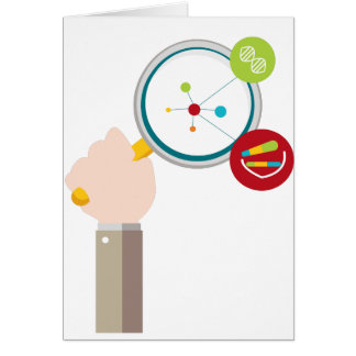 Human Genome DNA Research Icon Card