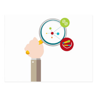 Human Genome DNA Research Icon Postcard