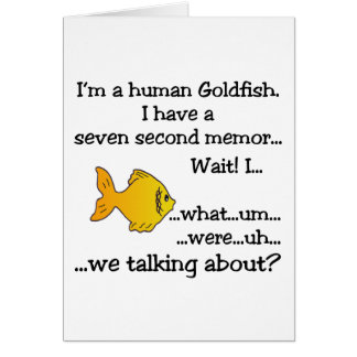 Human Goldfish Greeting Card