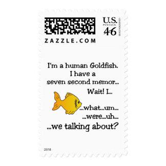 Human Goldfish Postage