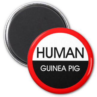 Human Guinea Pig 2 Inch Round Magnet