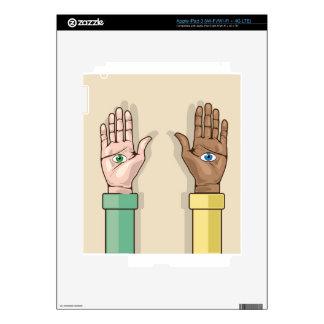 Human hands with eyes Vector iPad 3 Skin