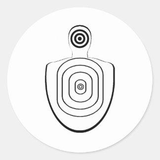 Human Head Body Bullseyes Stickers