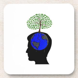human head side blue globe brain tree growing.png coaster