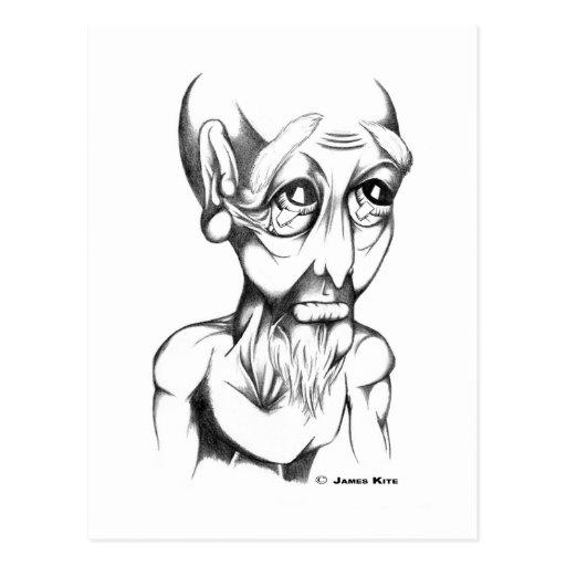 Human Head: Sigh - WB Postcard