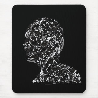 Human head wired mouse pad