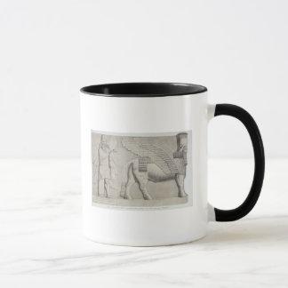 Human-headed Bull and winged figure from a gateway Mug