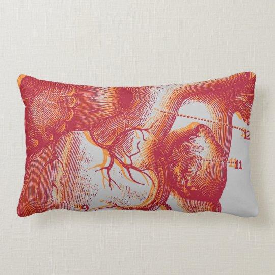 Human heart - anatomy lumbar pillow