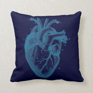 Human heart - anatomy throw pillow