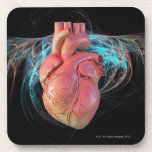 Human heart, computer artwork. drink coaster