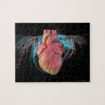 Human heart, computer artwork. jigsaw puzzle