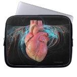 Human heart, computer artwork. laptop computer sleeve
