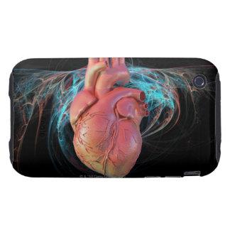 Human heart, computer artwork. tough iPhone 3 cover