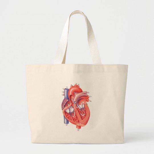 Human Heart Large Tote Bag