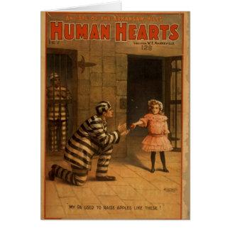 Human Hearts Greeting Card