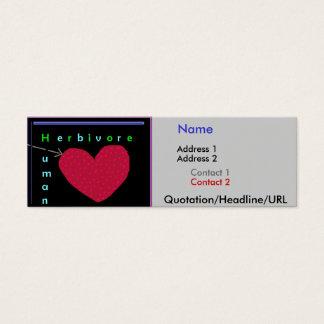 Human Herbivore Heart Mini Business Card