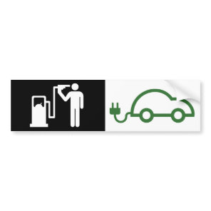 Human Icon Kamikaze fuel addict Electric Green Car Bumper Sticker