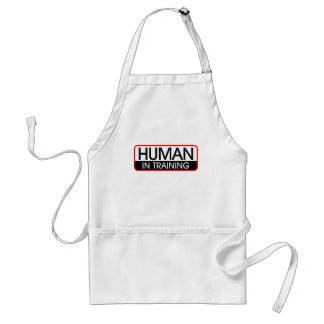 Human In Training Adult Apron