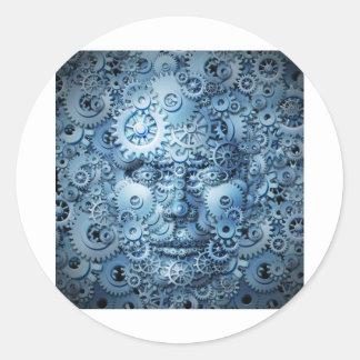 Human-Intelligence-And-Creativity.jpg Classic Round Sticker