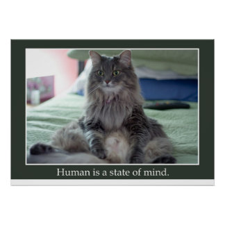 Human is a state of mind poster