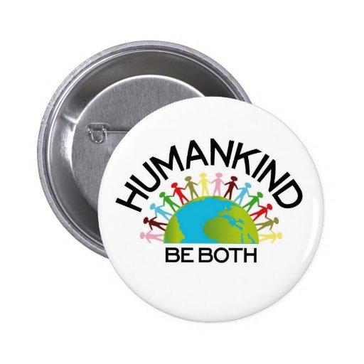 Human Kind 2 Inch Round Button
