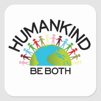 Human Kind Square Sticker