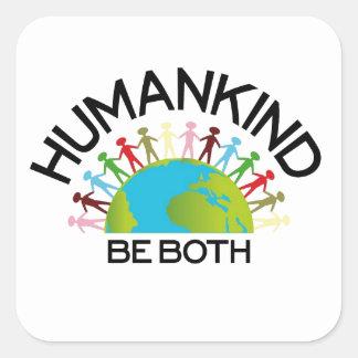 Human Kind Square Sticker