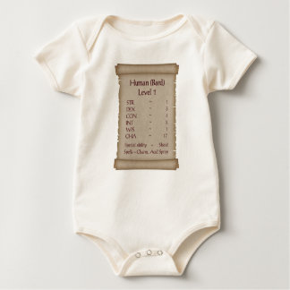 Human level 1 Bard Baby Bodysuit