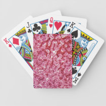 Human liver cells with cancer bicycle playing cards