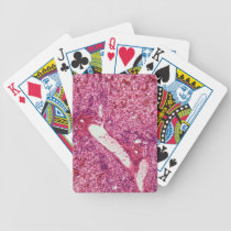 Human liver cells with cancer under the microscope bicycle playing cards