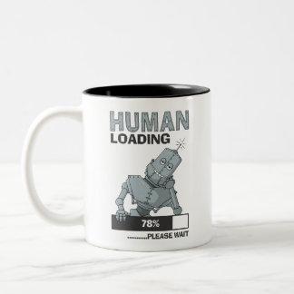 Human Loading, Please Wait Funny Coffee Mug