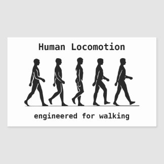 Human Locomotion Rectangular Sticker