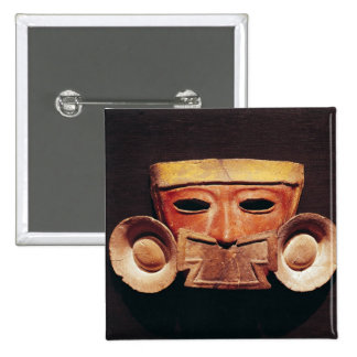 Human mask, from Teotihuacan Pinback Button