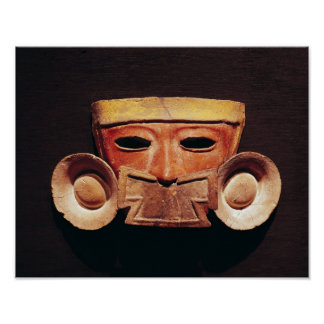 Human mask, from Teotihuacan Poster