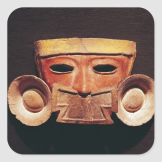 Human mask, from Teotihuacan Square Sticker