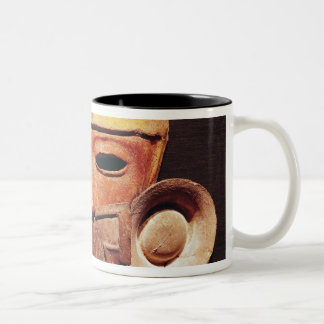 Human mask, from Teotihuacan Two-Tone Coffee Mug