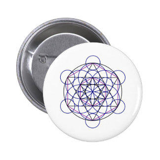 Human Merkaba Energy Field from our 7 Chakras Pinback Button