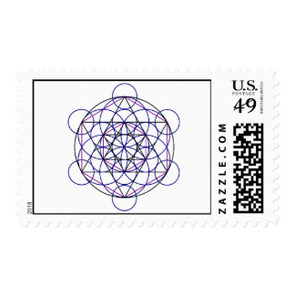 Human Merkaba Energy Field from our 7 Chakras Postage