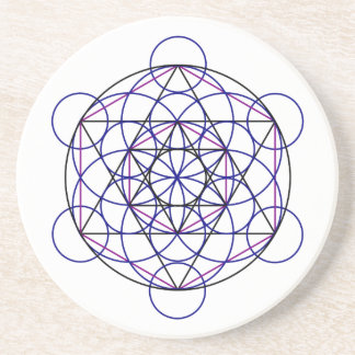 Human Merkaba Energy Field from our 7 Chakras Sandstone Coaster