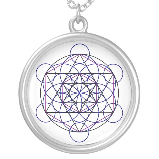 Human Merkaba Energy Field from our 7 Chakras Silver Plated Necklace
