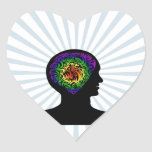 human mind heart stickers