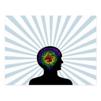 human mind postcard