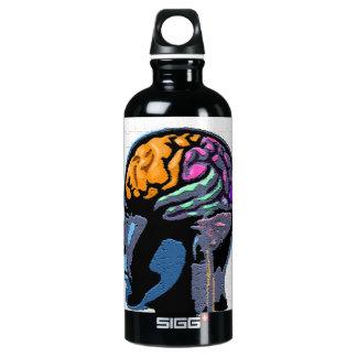 Human Mind Street Art Water Bottle