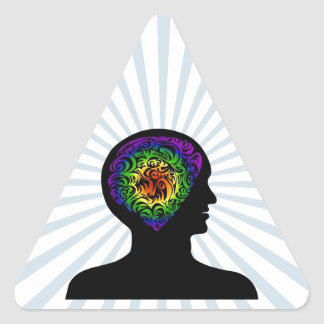 human mind triangle sticker