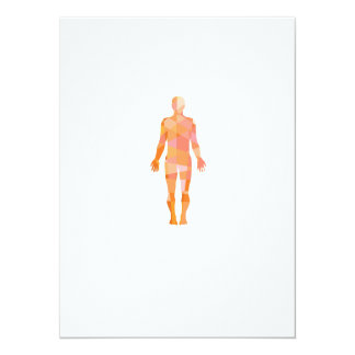 Human Muscular System Anatomy Low Polygon 5.5x7.5 Paper Invitation Card