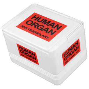 """""""HUMAN ORGAN FOR TRANSPLANT"""" DRINK COOLER"""