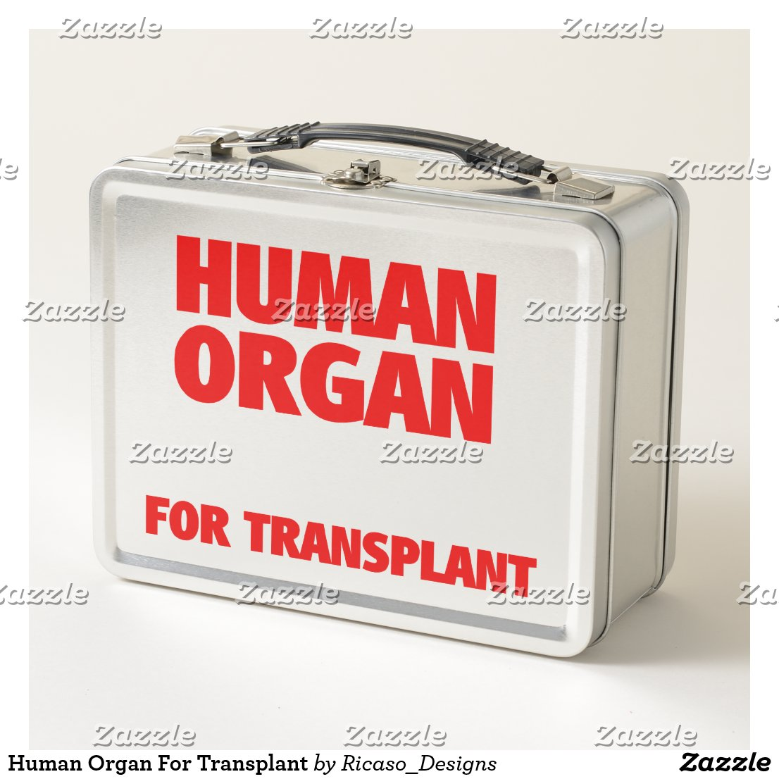 Human Organ For Transplant Metal Lunch Box