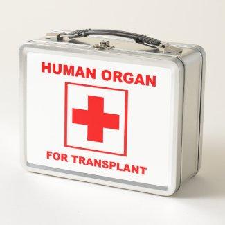 Human Organ For Transplant Metal Lunch Box