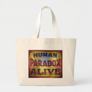 Human Paradox Alive Large Tote Bag